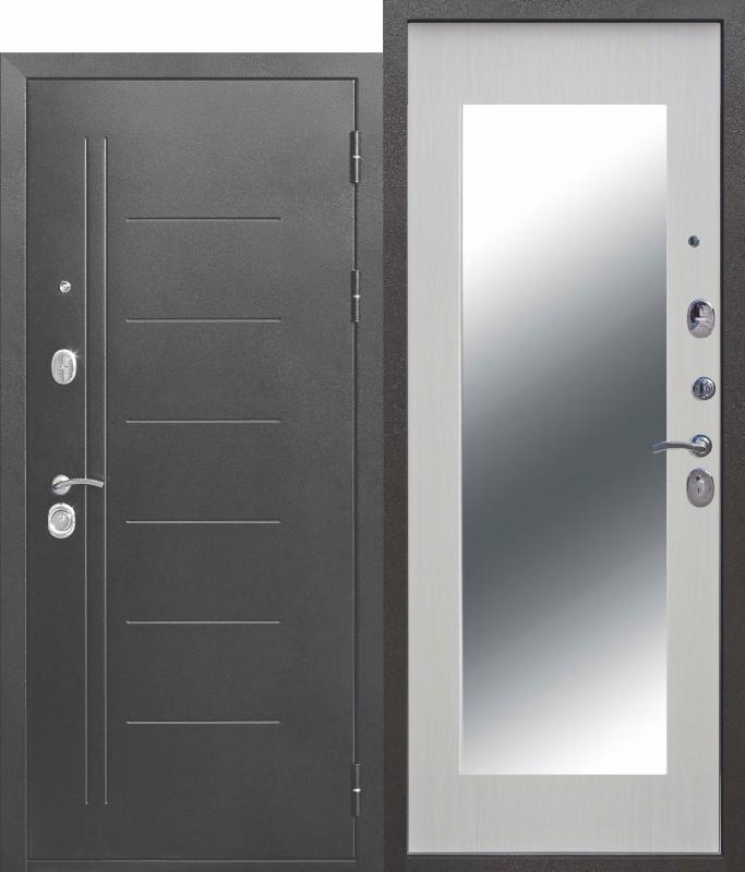 10 см Троя Серебро МАКСИ зеркало Белый ясень