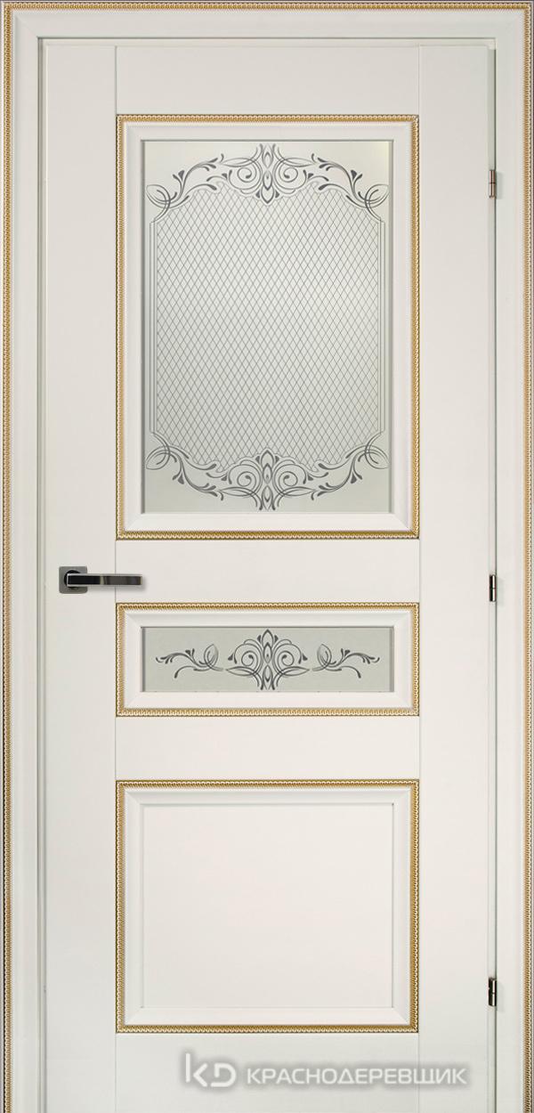 3000 БелыйДекорКосичкаCPL Дверь 3344 ДО 21- 9 (пр/л), с фурн., Денор