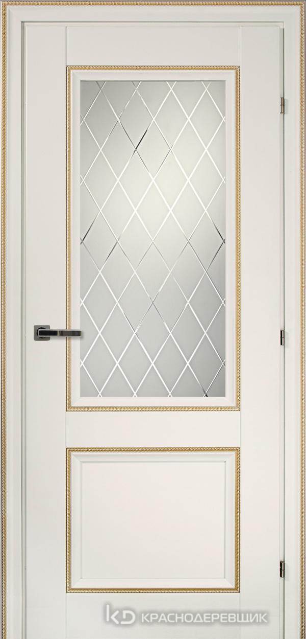 3000 БелыйДекорКосичкаCPL Дверь 3324 ДО 21- 9 (пр/л), с фурн., Кристалл