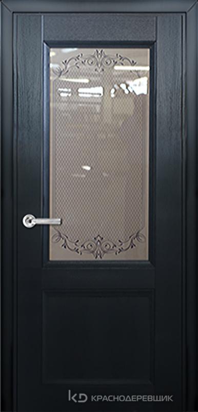 3000 ШпонДубаЭмальЧерный Дверь 3324 ДО 21- 9 (пр/л), с фурн., Денор