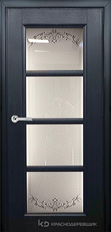 3000 ШпонДубаЭмальЧерный Дверь 3340 ДО 21- 9 (пр/л), с фурн., Денор