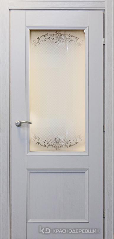 3000 ШпонДубаЭмальСветлоСерый Дверь 3324 ДО 21- 9 (пр/л), с фурн., Денор