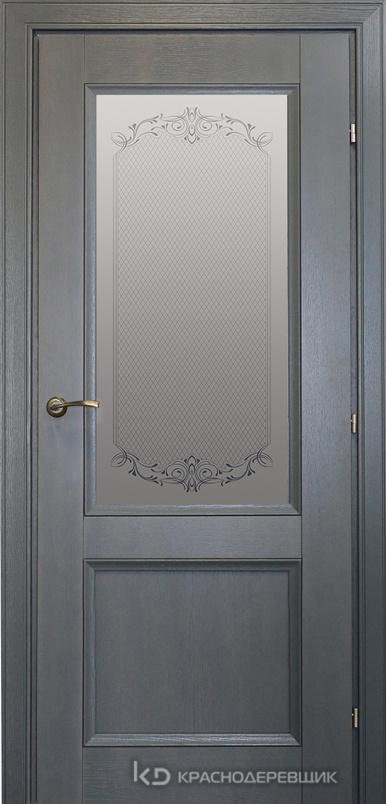 3000 ШпонДубаЭмальСерый Дверь 3324 ДО 21- 9 (пр/л), с фурн., Денор
