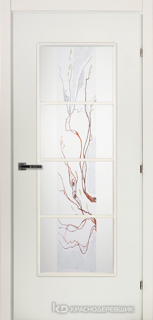 5000 БелыйCPL Дверь 5040 ДО 21- 9 (пр/л), с фурн., ЦветСтекло