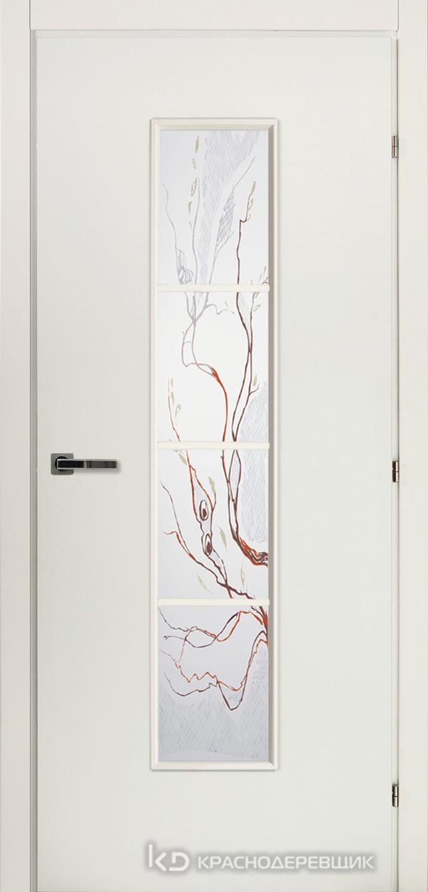 5000 БелыйCPL Дверь 5066 ДО 21- 9 (пр/л), с фурн., Лиана
