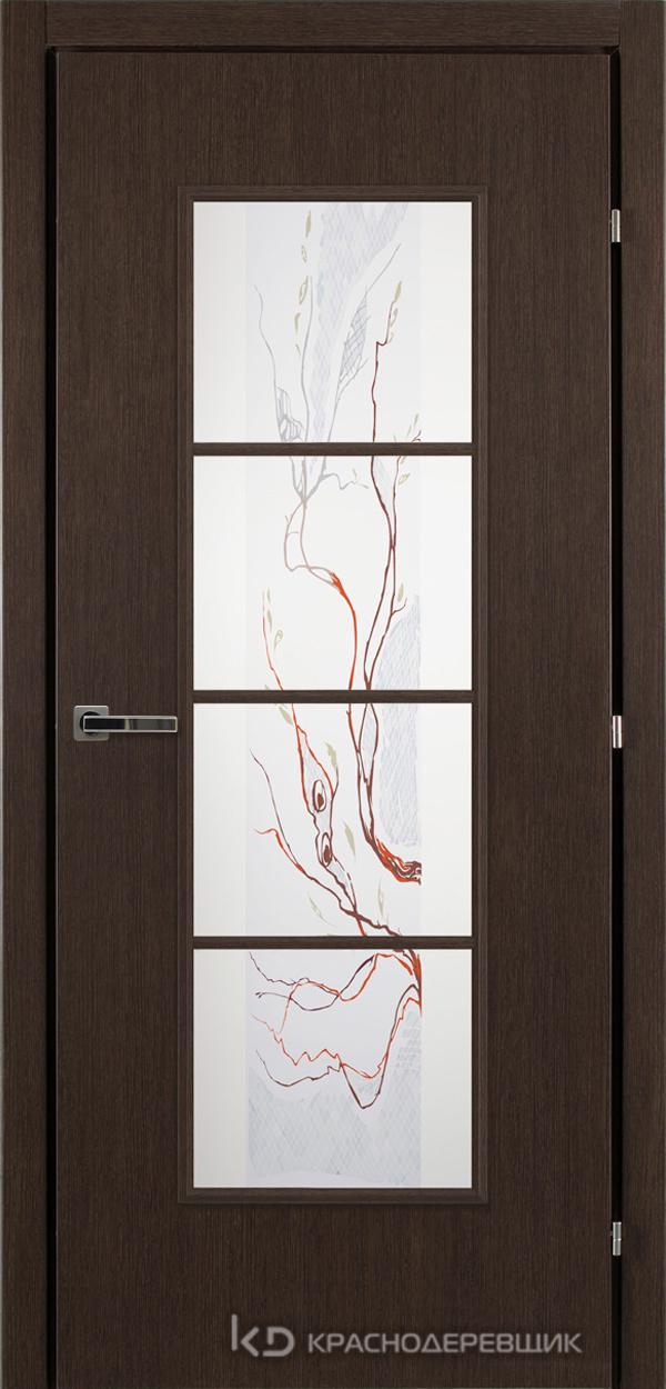 5000 ЧДуб Дверь 5040 ДО 21- 9 (пр/л), с фурн., ЦветСтекло