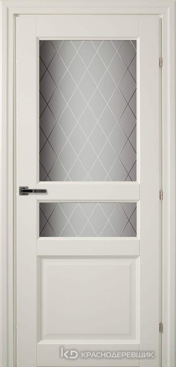 6000 Белый CPL Дверь 6334 ДО 21- 9 (пр/л), с фурн., Стекло Кристалл