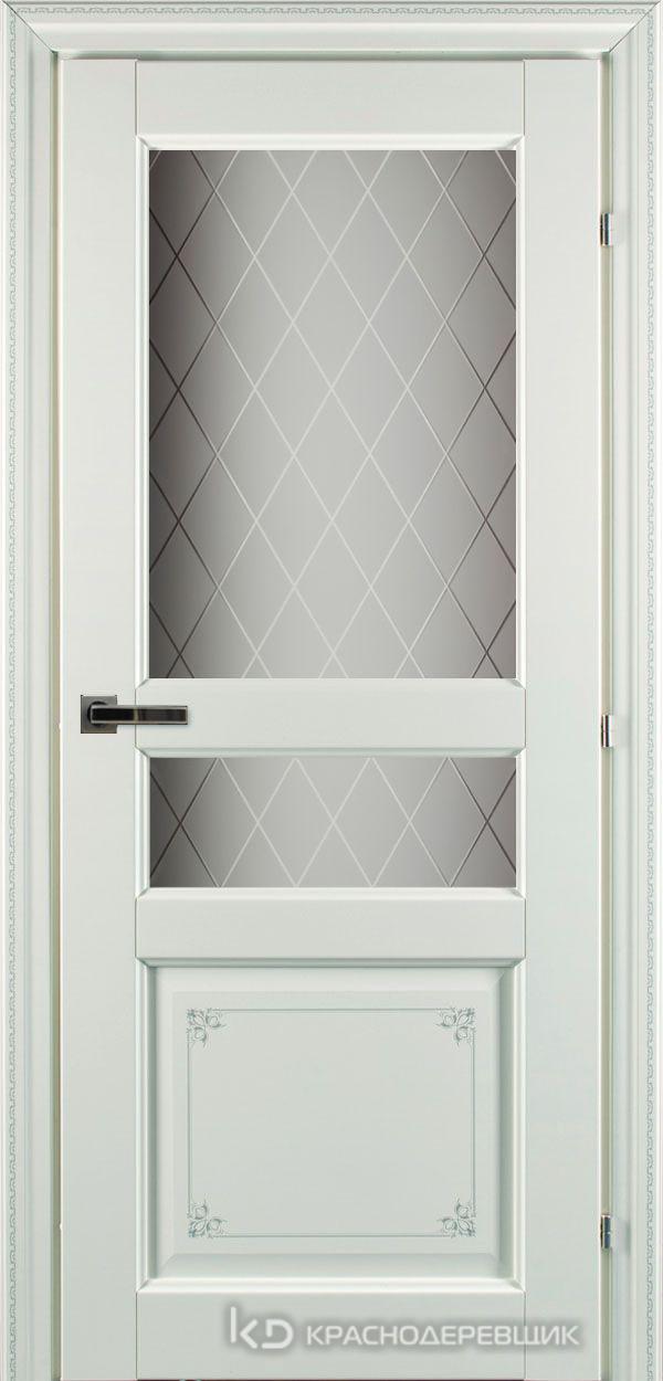 6000 БелыйПЕЧАТЬ CPL Дверь 6334 ДО 21- 9 (пр/л), с фурн., Стекло Кристалл