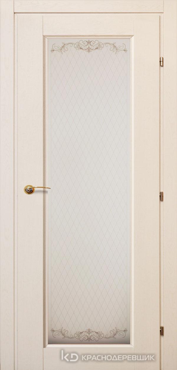 6000 ДубБелый с патинойПП Дверь 6340 ДО 21- 9 (пр/л), с фурн., Стекло Кружевное