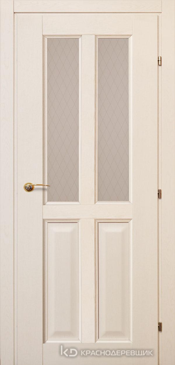 6000 ДубБелый с патинойПП Дверь 6346 ДО 21- 9 (пр/л), с фурн., Стекло Кружевное