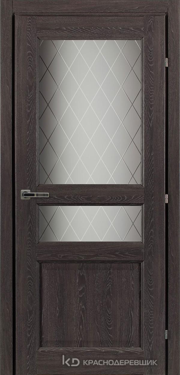 6000 ДубШварцS Дверь 6334 ДО 21- 9 (пр/л), с фурн., Стекло Кристалл