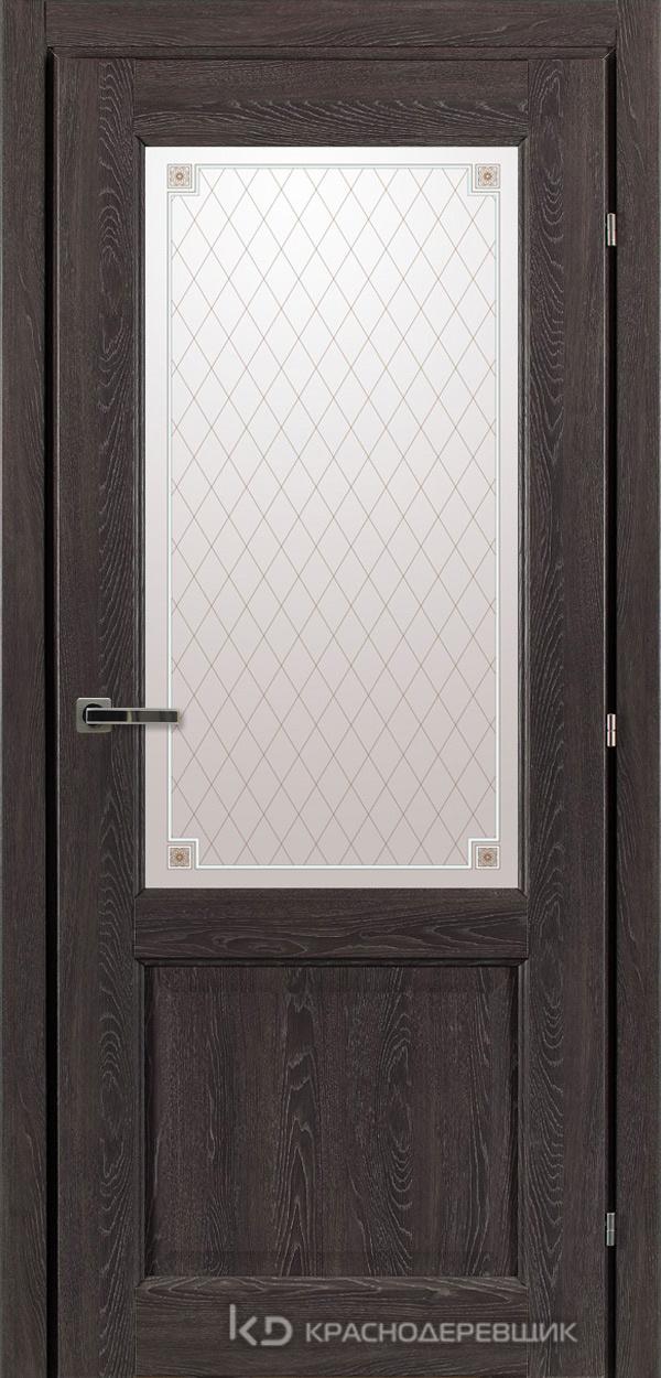 6000 ДубШварцS Дверь 6324 ДО 21- 9 (пр/л), с фурн., Стекло Пико