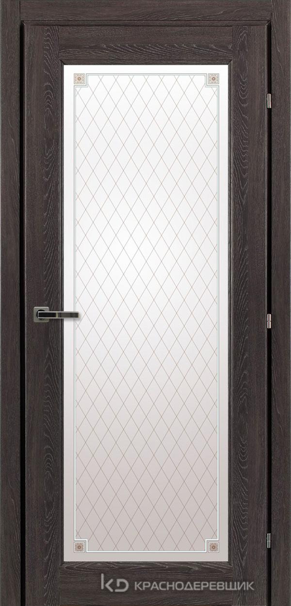 6000 ДубШварцS Дверь 6340 ДО 21- 9 (пр/л), с фурн., Стекло Пико