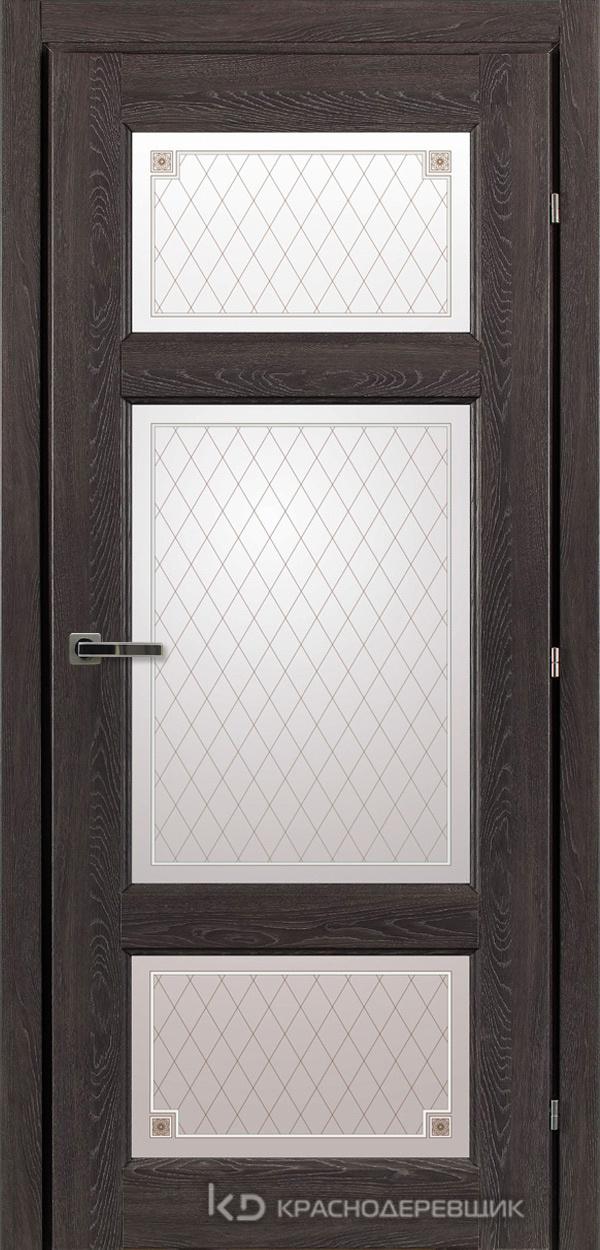 6000 ДубШварцS Дверь 6342 ДО 21- 9 (пр/л), с фурн., Стекло Пико