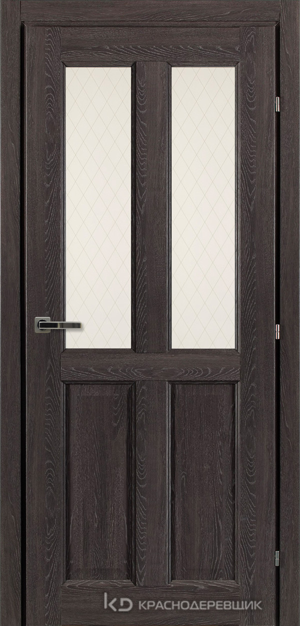 6000 ДубШварцS Дверь 6346 ДО 21- 9 (пр/л), с фурн., Стекло Пико