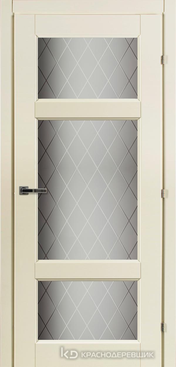 6000 Слоновая Кость CPL Дверь 6342 ДО 21- 9 (пр/л), с фурн., Стекло Кристалл