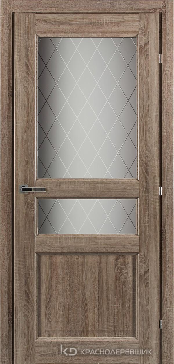 6000 СОНОМА Дверь 6334 ДО 21- 9 (пр/л), с фурн., Стекло Кристалл