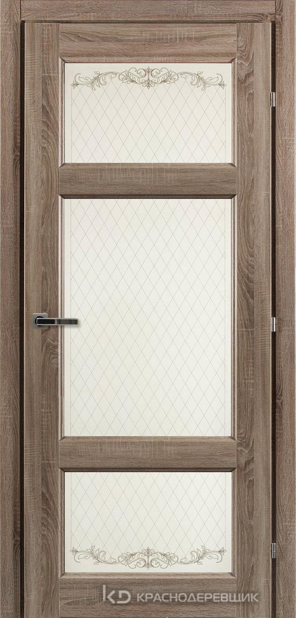 6000 СОНОМА Дверь 6342 ДО 21- 9 (пр/л), с фурн., Стекло Кружево
