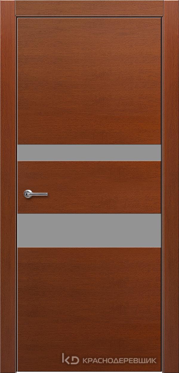 700 БразГрушаШпонКурупикса Дверь 703 ДО 21- 9 (пр/л), с фурн., СтеклоСерое