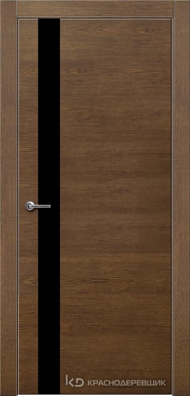 700 ДубКофеШпонДуба Дверь 701 ДО 21- 9 (пр/л), с фурн., СтеклоЧерное