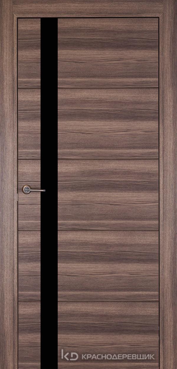 700 Дуб темный Дверь 701 ДО 21- 9 (пр/л), мех.замок, СтеклоЧерное