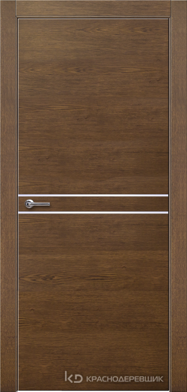 700 ДубКофеШпонДуба Дверь 706 ДГ 21- 9 (пр/л), с фурн.