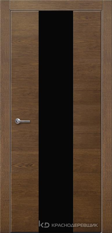 700 ДубКофеШпонДуба Дверь 704 ДО 21- 9 (пр/л), с фурн., СтеклоЧерное