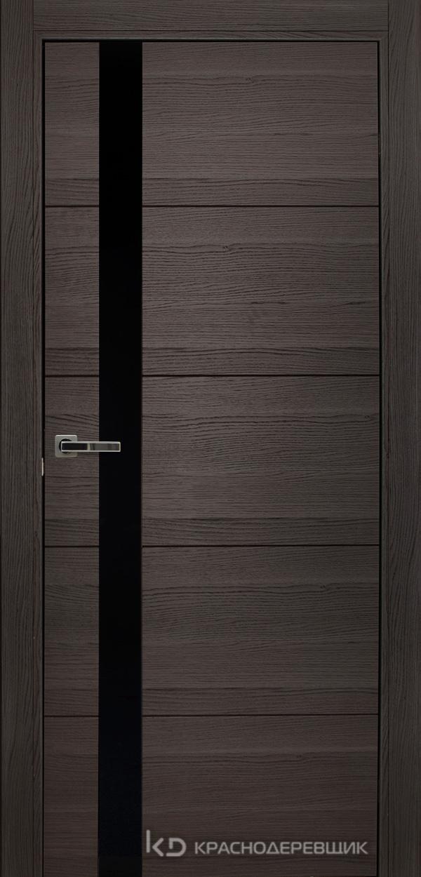 700 Нордик Дверь 701 ДО 21- 9 (пр/л), мех.замок, СтеклоЧерное