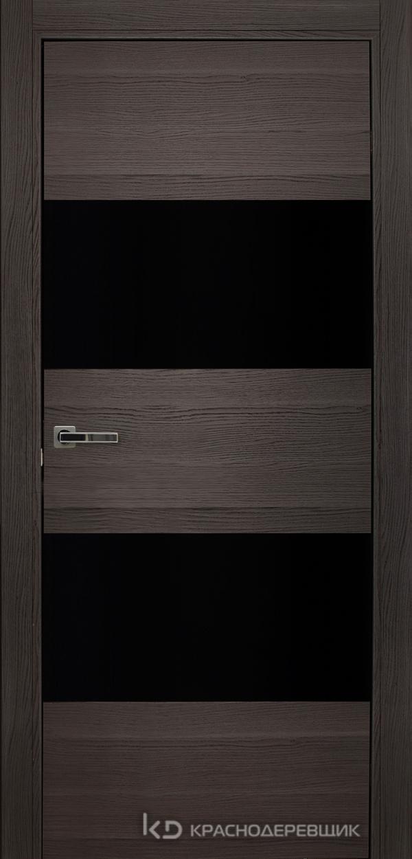 700 Нордик Дверь 705 ДО 21- 9 (пр/л), мех.замок, СтеклоЧерное