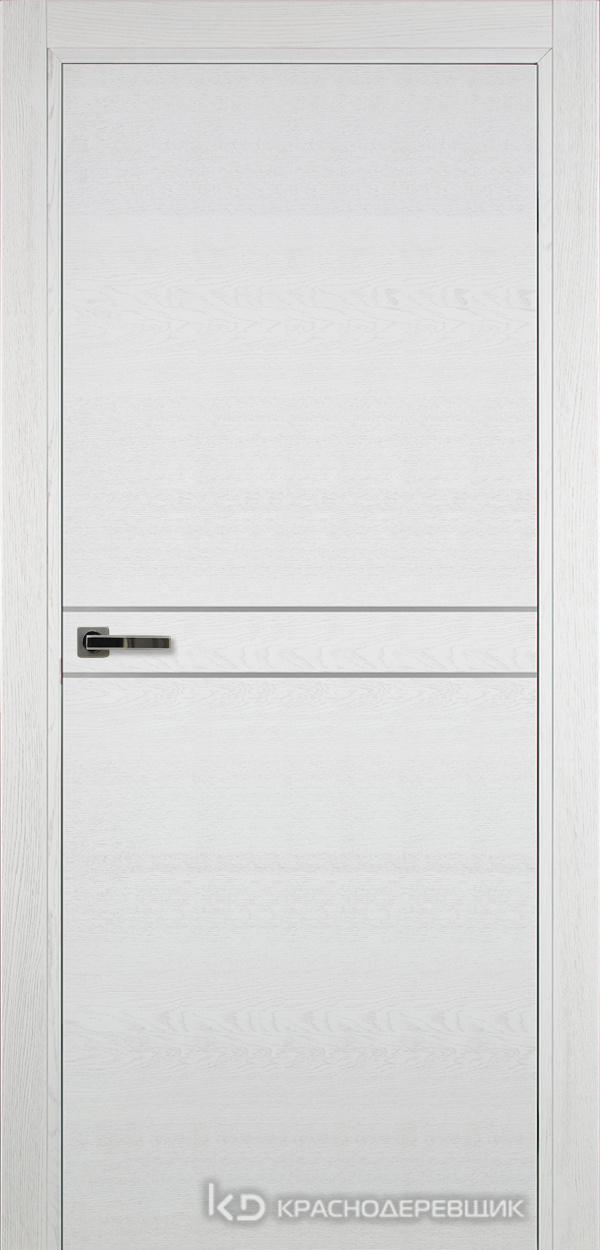 700 ЭмальБелыйШпонДуба Дверь 706 ДГ 21- 9 (пр/л), с фурн.