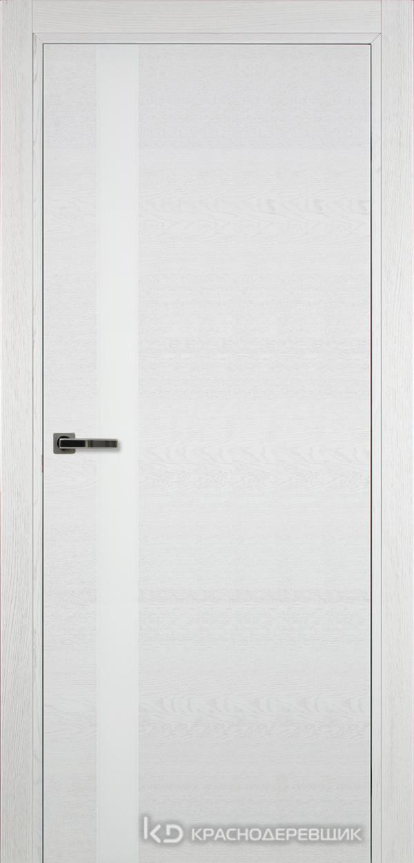 700 ЭмальБелыйШпонДуба Дверь 701 ДО 21- 9 (пр/л), с фурн., СтеклоБелое