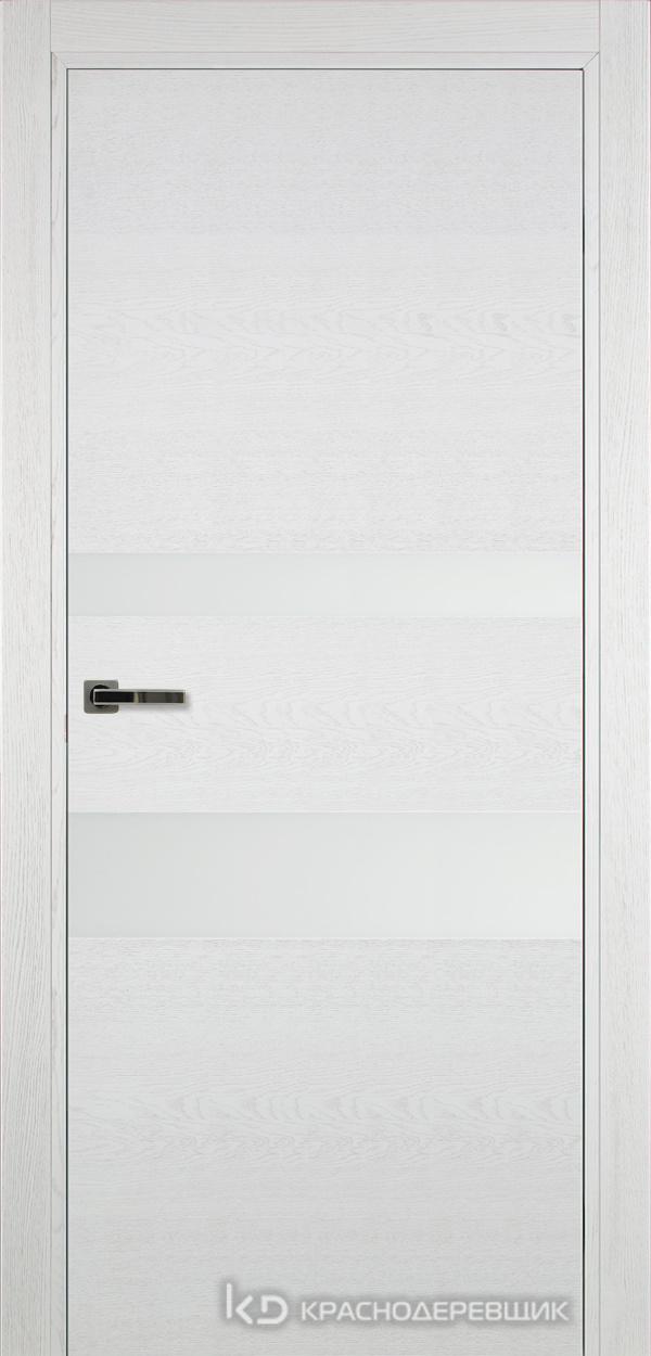 700 ЭмальБелыйШпонДуба Дверь 703 ДО 21- 9 (пр/л), с фурн., СтеклоБелое
