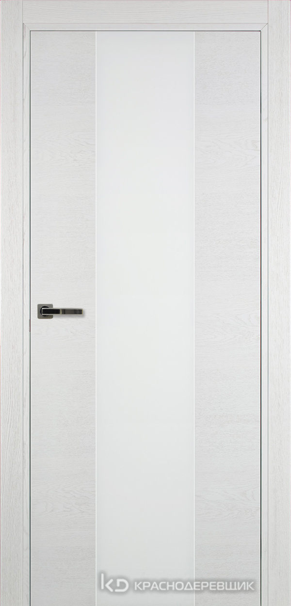 700 ЭмальБелыйШпонДуба Дверь 704 ДО 21- 9 (пр/л), с фурн., СтеклоБелое