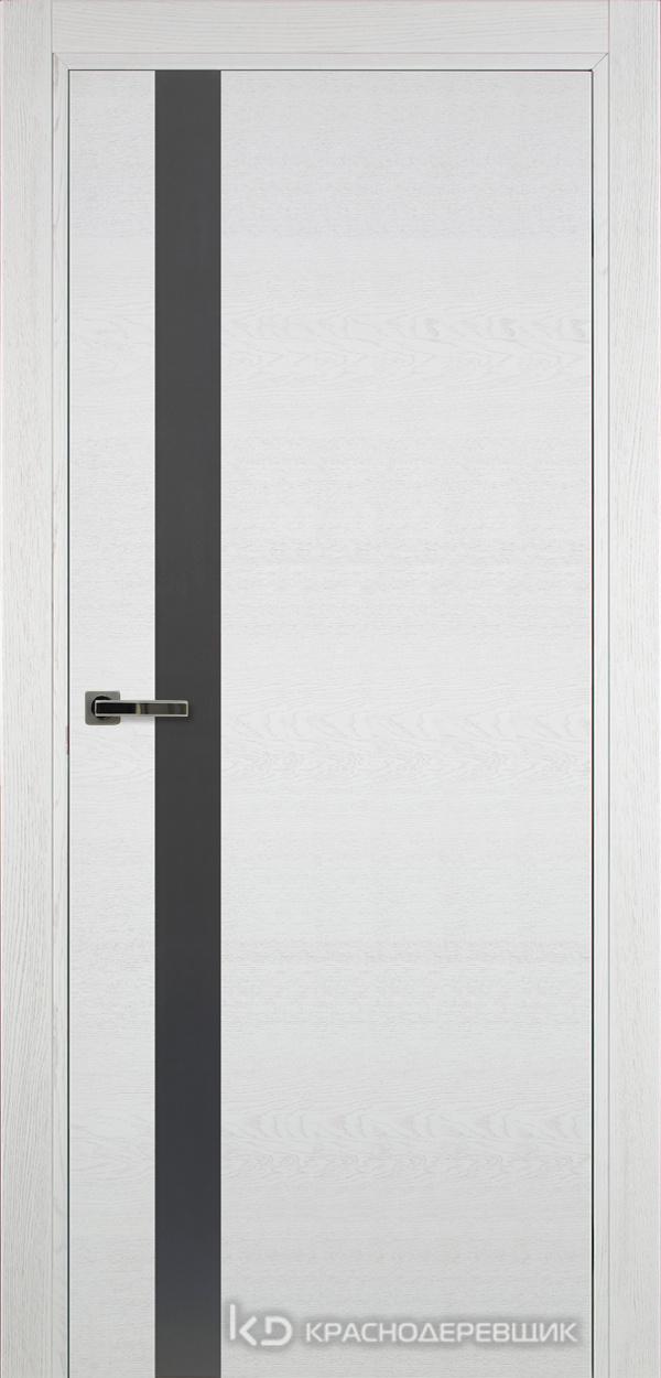 700 ЭмальБелыйШпонДуба Дверь 701 ДО 21- 9 (пр/л), с фурн., СтеклоСерое