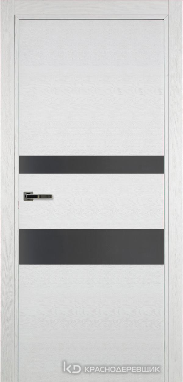 700 ЭмальБелыйШпонДуба Дверь 703 ДО 21- 9 (пр/л), с фурн., СтеклоСерое