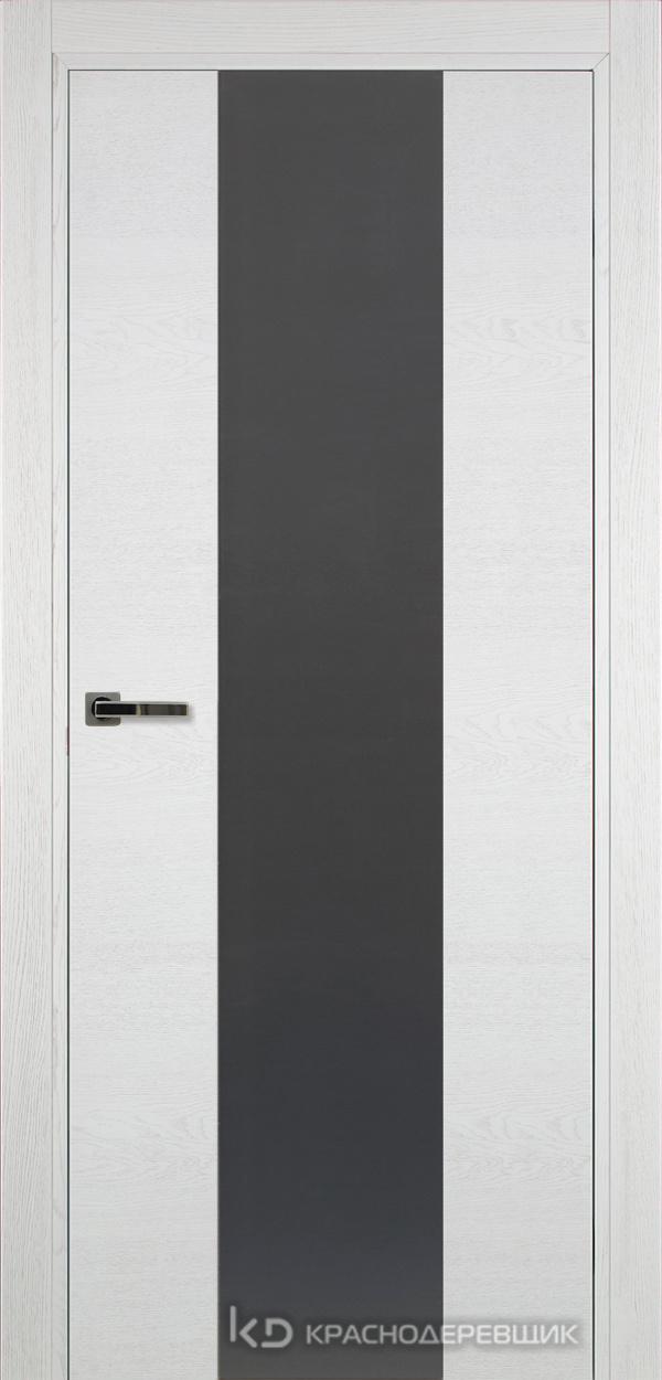700 ЭмальБелыйШпонДуба Дверь 704 ДО 21- 9 (пр/л), с фурн., СтеклоСерое