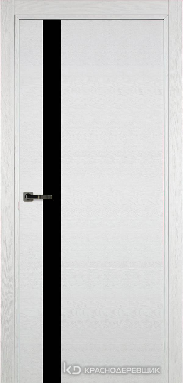 700 ЭмальБелыйШпонДуба Дверь 701 ДО 21- 9 (пр/л), с фурн., СтеклоЧерное