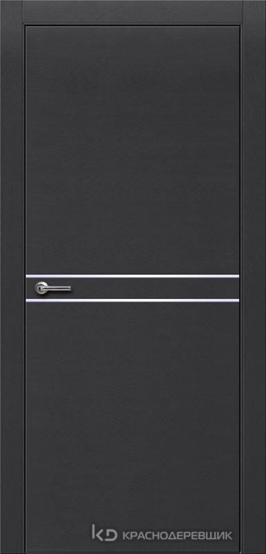 700 ЭмальЧерныйШпонДуба Дверь 706 ДГ 21- 9 (пр/л), с фурн.