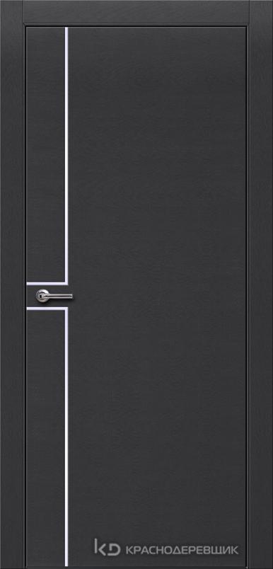700 ЭмальЧерныйШпонДуба Дверь 707 ДГ 21- 9 (пр/л), с фурн.