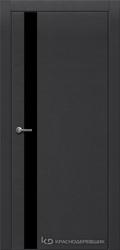 700 ЭмальЧерныйШпонДуба Дверь 701 ДО 21- 9 (пр/л), с фурн., СтеклоЧерное