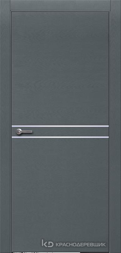 700 ЭмальСерыйШпонДуба Дверь 706 ДГ 21- 9 (пр/л), с фурн.