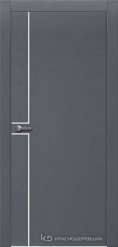 700 ЭмальСерыйШпонДуба Дверь 707 ДГ 21- 9 (пр/л), с фурн.