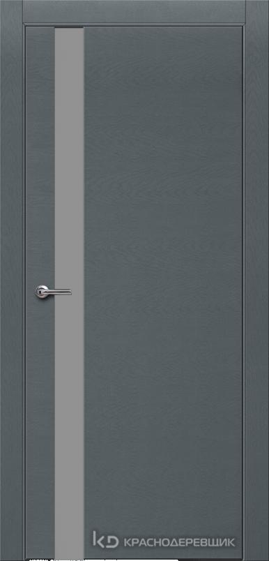 700 ЭмальСерыйШпонДуба Дверь 701 ДО 21- 9 (пр/л), с фурн., СтеклоСерое