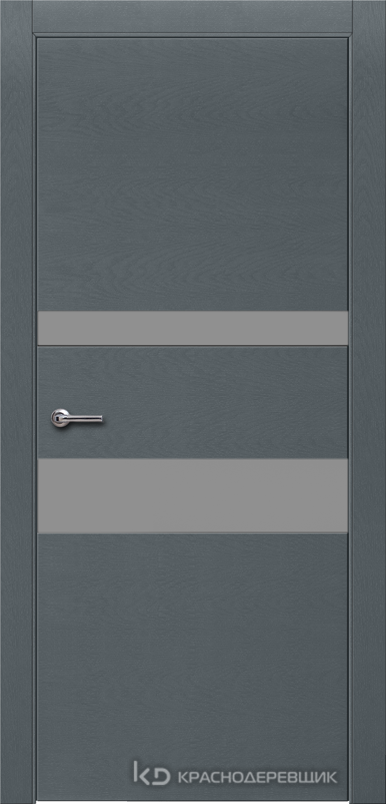 700 ЭмальСерыйШпонДуба Дверь 703 ДО 21- 9 (пр/л), с фурн., СтеклоСерое