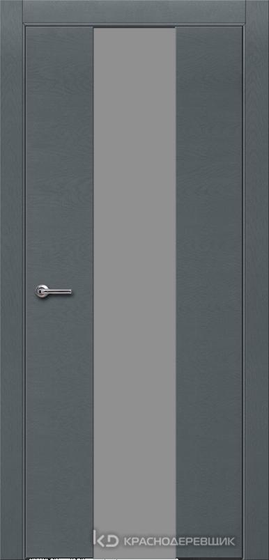 700 ЭмальСерыйШпонДуба Дверь 704 ДО 21- 9 (пр/л), с фурн., СтеклоСерое