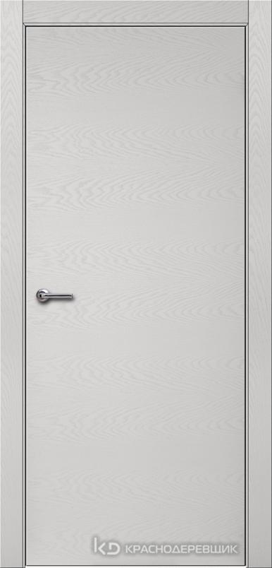 700 ЭмальСветлоСерыйШпонДуба Дверь 700 ДГ 21- 9 (пр/л), с фурн.