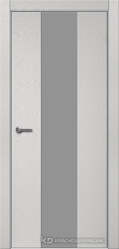 700 ЭмальСветлоСерыйШпонДуба Дверь 704 ДО 21- 9 (пр/л), с фурн., СтеклоСерое