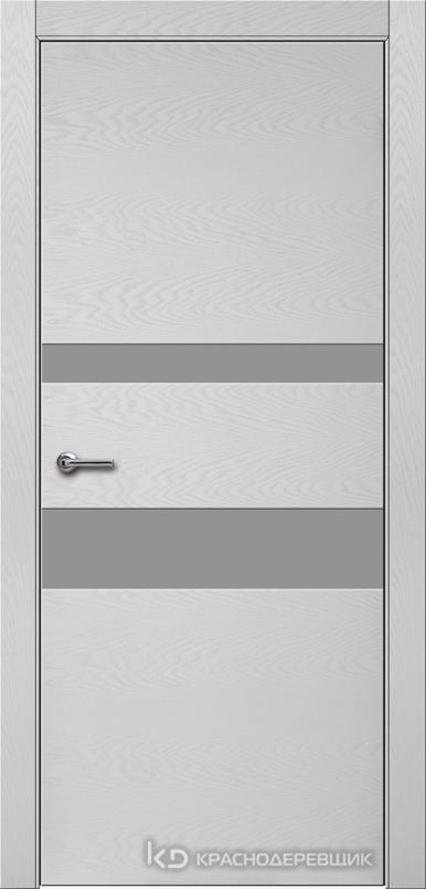 700 ЭмальСветлоСерыйШпонДуба Дверь 703 ДО 21- 9 (пр/л), с фурн., СтеклоСерое