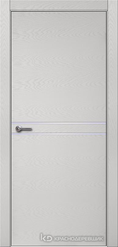 700 ЭмальСветлоСерыйШпонДуба Дверь 706 ДГ 21- 9 (пр/л), с фурн.