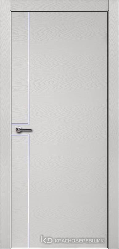 700 ЭмальСветлоСерыйШпонДуба Дверь 707 ДГ 21- 9 (пр/л), с фурн.